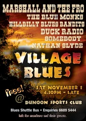 Village Blues Poster