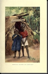 children and hut