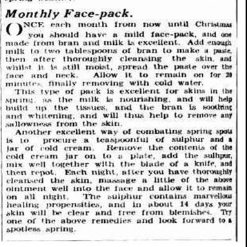 blemishes2The Sydney Morning Herald  Tuesday 23 August 1938, page 22