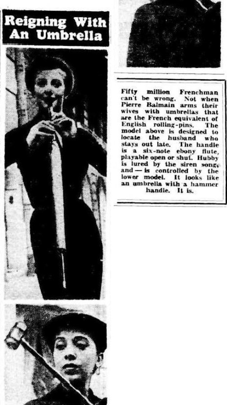 umbrellaThe Mercury Friday 14 September 1951, p
