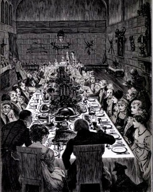 LUNCH Old Christmas  from the Sketch book of Washington Irving - Irving, Washington, 1783-185918869
