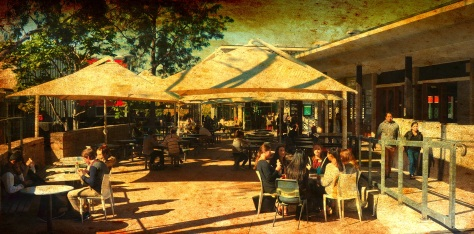 Refectory precinct UQ - July 2014 - Ancient Canvas Effect FX